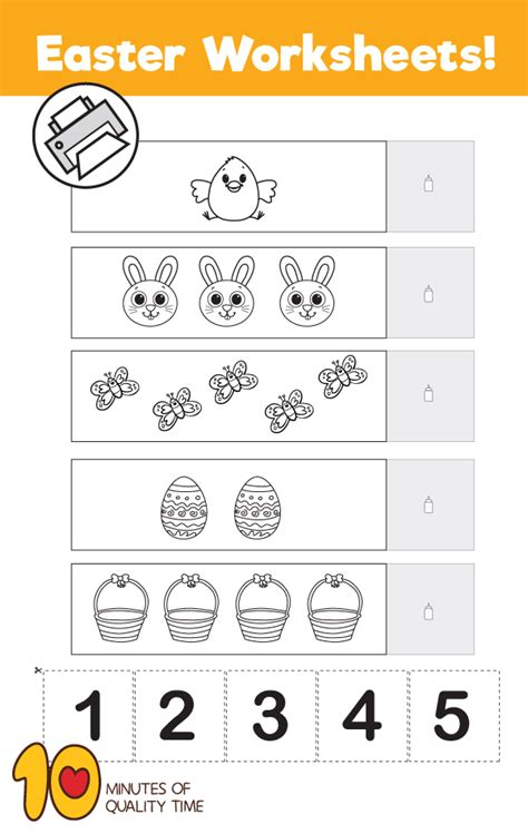 easter counting   worksheet  minutes  quality time