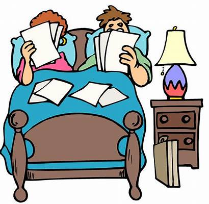Bed Cartoon Clipart Bedroom Sleeping Clip Getting
