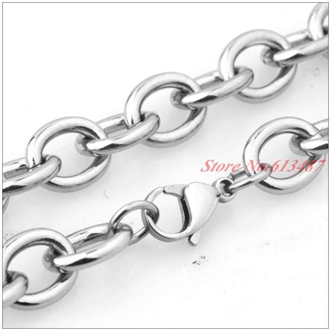 fashion mm heavy mens  link chain necklace cool silver