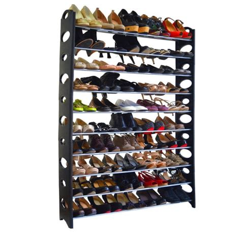 10 tie shoe rack for 50 pair wall bench shelf closet