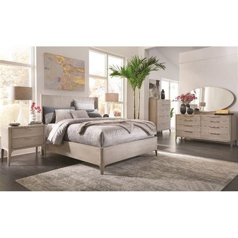 Rc Willey Bedroom Furniture by Modern Frosted Ash 6 King Bedroom Set Alexandra