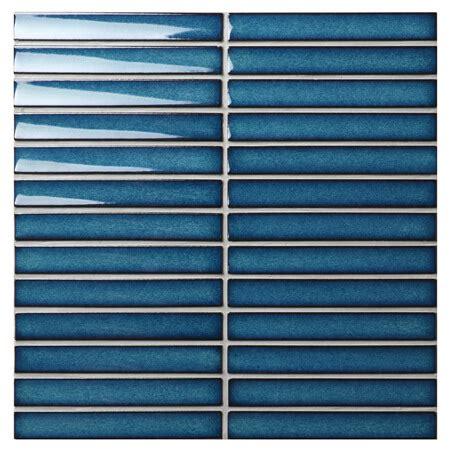 strip dark blue bczz blue mosaic tiles bathroom