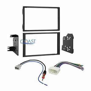 Car Stereo Double Din Dash Kit Wire Harness Antenna For