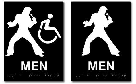 elvis presley mens restroom  signs  sign depot