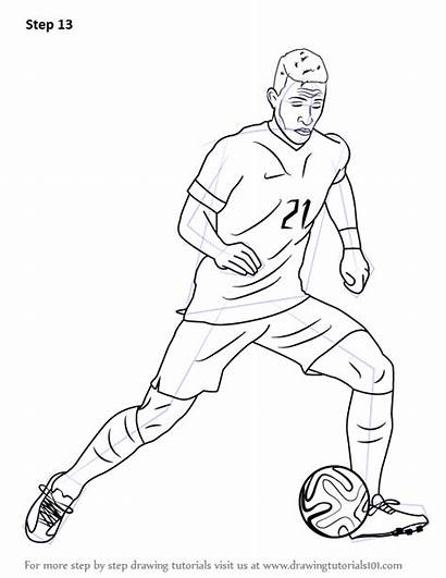 Football Drawing Draw Outline Memphis Depay Player