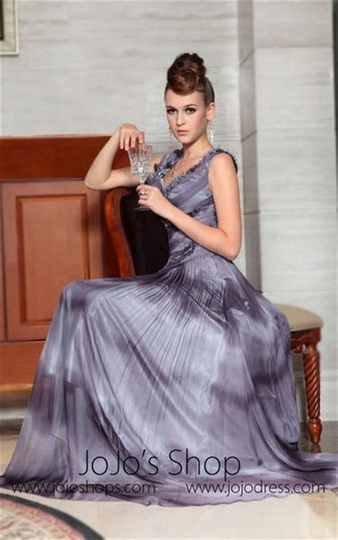 grecian  neck formal prom evening dress jojo shop