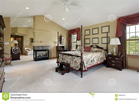 Master Bedroom With Sitting Room Stock Image  Image 18090133