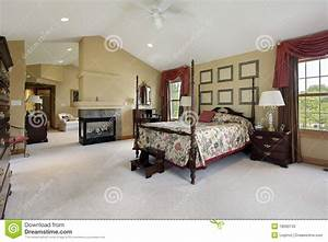 Master Bedroom With Sitting Room Stock Image - Image: 18090133