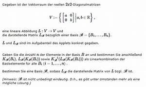 Bildweite Berechnen : darstellende matrix lineare abbildung und basis mathelounge ~ Themetempest.com Abrechnung