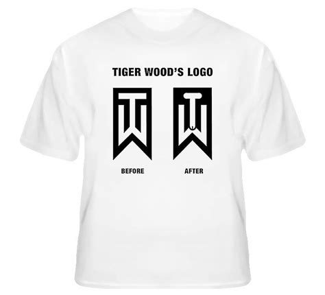 tiger woods before and after logo golf t shirt ebay