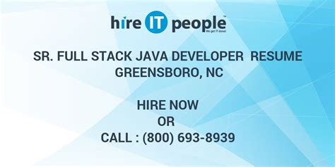 sr full stack java developer resume greensboro nc hire