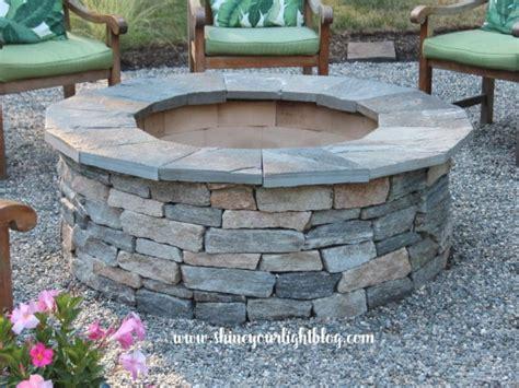 diy  fire pit pea stone patio start  finish