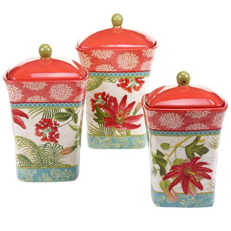 Ebay Kitchen Canisters by Certified International Tropics 3 Kitchen Canister