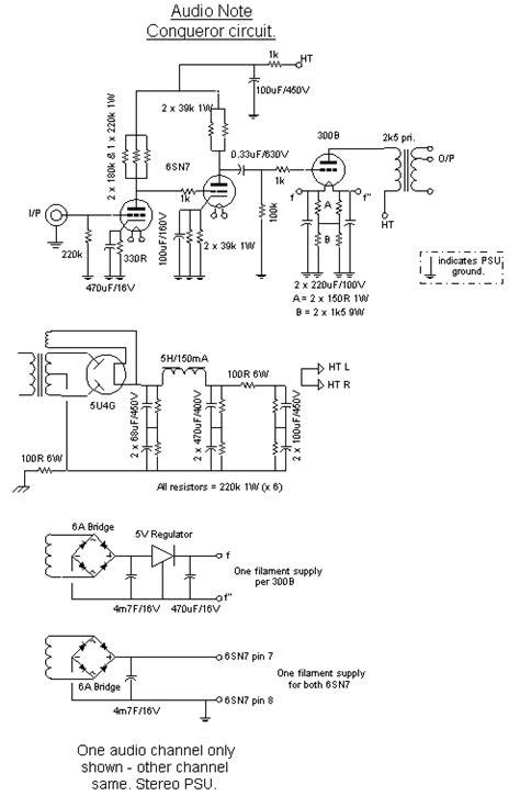 of schematics by brand audio note conqueror