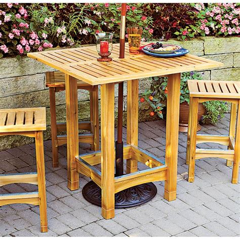 bistro patio table  stools woodworking plan  wood