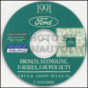 1991 Ford Truck And Van Repair Shop Manual Econoline F150