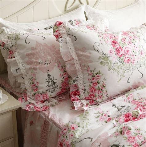 pink rose pillow sham