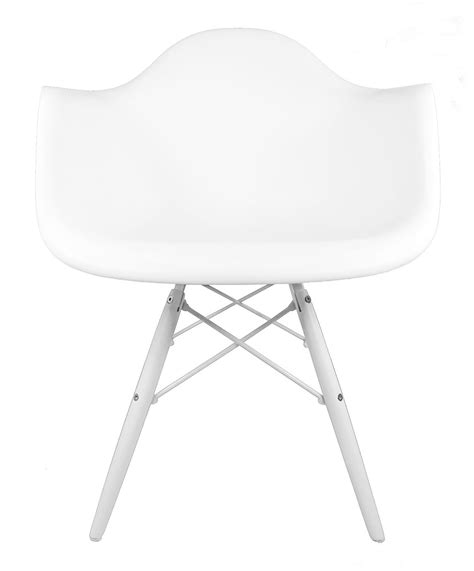eames style daw molded white plastic accent arm chair with