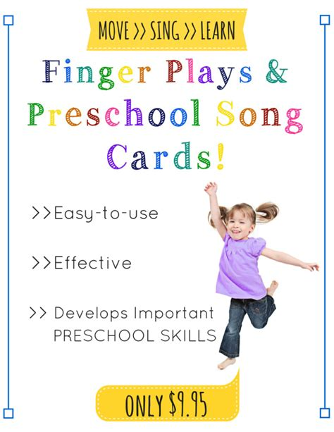 finger songs for preschool finger play and preschool song cards 651