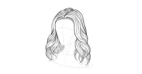 draw hair step  step guide
