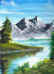 Mountain Scenery Acrylic Painting