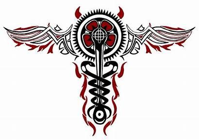 Caduceus Evil Infamous Cole Tattoo Macgrath Tattoos