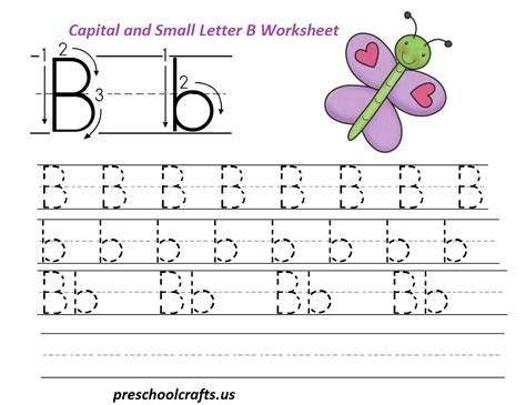 letter b activities handwriting practice for capital and small b is for 47720