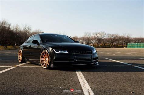 Audi a7 rs7 quattro 76mm ( 3 zoll ) high speed edelstahl downpipe neu. Audi RS7 in Schwarz mit goldenen Vossen Wheels Alufelgen