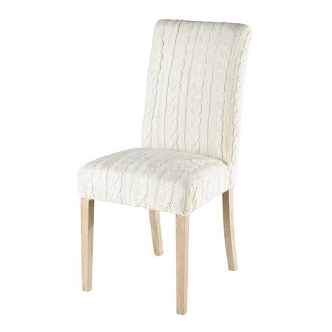 housse chaise maison du monde housse de chaise tricotée blanche margaux maisons du monde