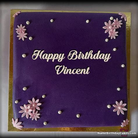 happy birthday vincent cakes cards wishes