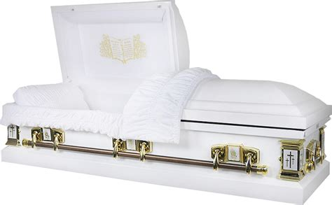 price caskets  lords prayer casket ga white