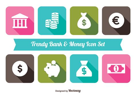 Bank Icon Trendy Money And Bank Icon Set Download Free Vector Art