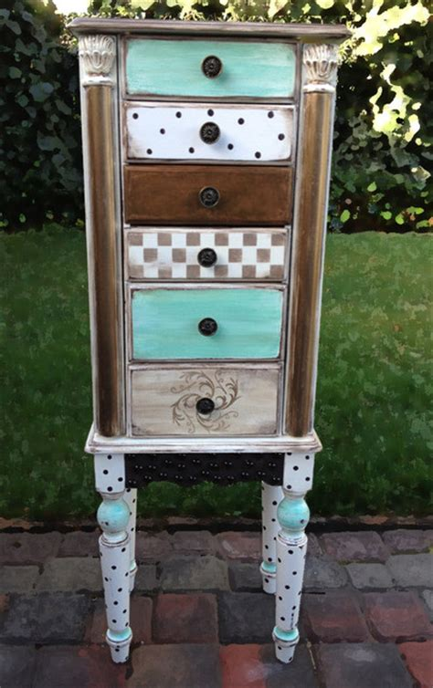Painted Jewelry Armoire Whimsical Painted Jewelry Armoires Jewelry Armoires