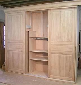 Dressing Bois Massif : armoire en bois pas cher maison design ~ Louise-bijoux.com Idées de Décoration