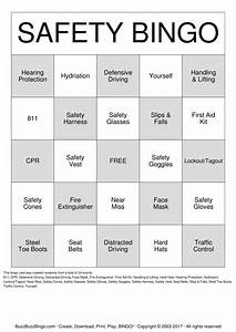 Safety bingo cards to download print and customize for Safety bingo template