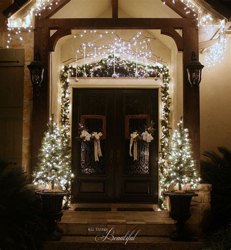 christmas porch  front door garland diy hometalk