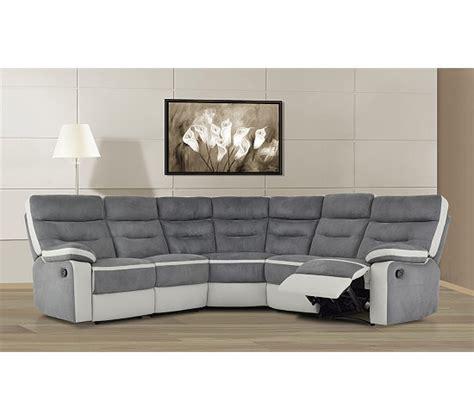canape d angle relax canapé d 39 angle relax titan gris et blanc canapés but