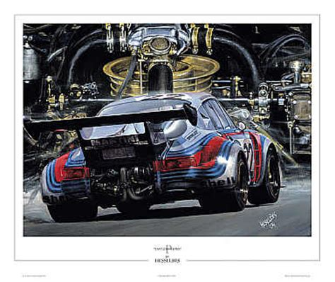 automobile art bes hessel fast emotions martini porsche