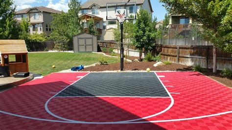 backyard basketball court flooring modutile outdoor