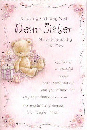 loving birthday  dear sister centre stage httpwww
