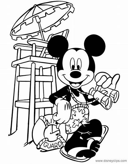 Mickey Lifeguard Coloring Mouse Disneyclips Occupations