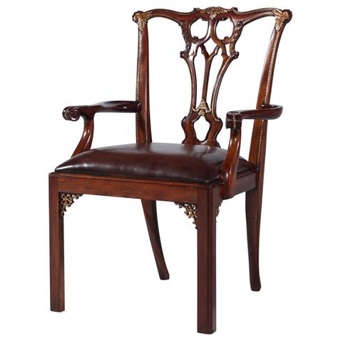 chippendale style mahogany dining arm chair dining