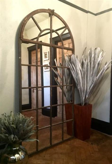 tall full arch vintage window mirror  tall arch