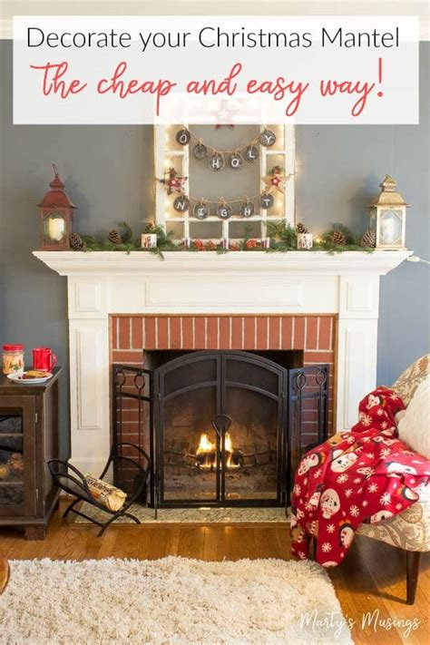 How To Decorate Home Cheap - how to decorate a mantel the cheap way