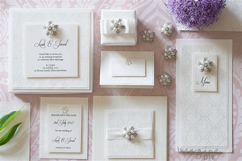 how to make ivory embossed wedding stationery imagine diy