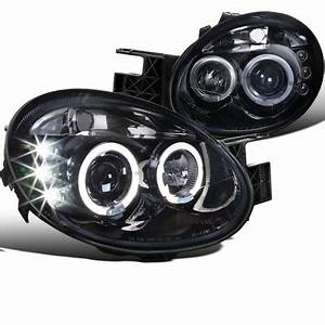 03 05 Dodge Neon SRT4 Angel Eye Halo LED DRL Projector