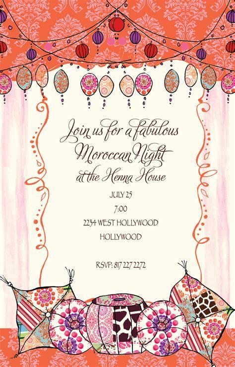 quick view bik wch    moroccan  invitation