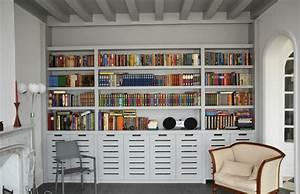 Salon En Anglais : biblioth que contemporaine style anglais contemporain salon le havre par menuiserie resbeut ~ Preciouscoupons.com Idées de Décoration