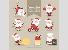 Collectie van mooi karakter van Kerstman Vector Gratis