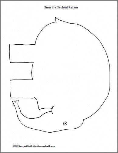 Elmer The Elephant Template by Sponge Painted Elmer The Elephant Arts And Literacy